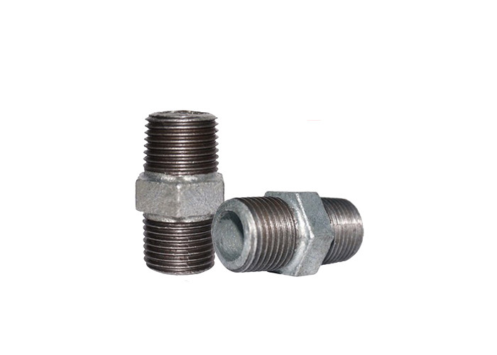 Npt 1 2 Inch Threaded Nipple , Hexagon Galvanized Pipe Nipple No Sand Hole